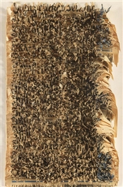 Artwork by Oskar Holweck, Untitled (Reißrelief), Made of Torn nesprint collaged on board, original on wood
