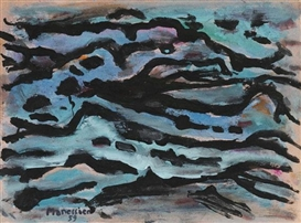 Artwork by Alfred Manessier, Composition bleue, Made of Gouache
