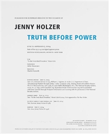 Jenny Holzer, Truth before Power