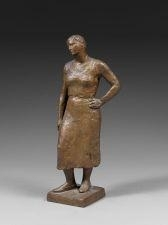 Artwork by Charles Despiau, Odette Debout, Made of bronze with gilded patina