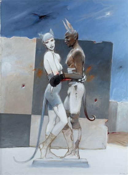 Bilal Enki White Queen Black King 2012 Mutualart