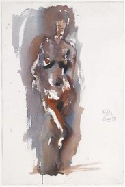 Georg Eisler, Female Nude Standing