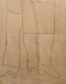 Artwork by Constant Permeke, Legs, Made of Pencil drawing on panel