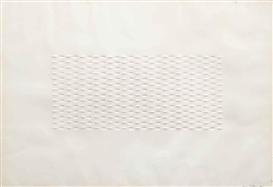 Artwork by Enrico Castellani, Untitled, Made of embossed paper