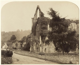 Artwork by Roger Fenton, Tintern Abbey, Made of Albumen print with arched top