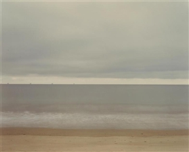 Artwork by Richard Misrach, Untitled, Santa Barbara (Oil derricks with sand), Made of Chromogenic print