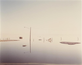 Richard Misrach, Flooded Lamppost, Salton Sea, from Desert Cantos series