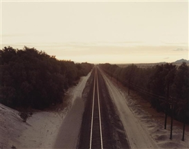 Artwork by Richard Misrach, Two works: Comfort Stations; Tracks, Made of chromogenic prints