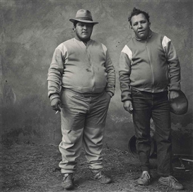 Artwork by Roger Ballen, Johan and Bertie, brothers, Western Transvaal, 1987, Made of gelatin silver print, toned in selenium