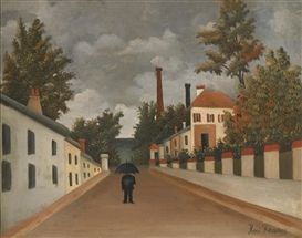 Artwork by Henri Rousseau, VUE DES ENVIRONS DE PARIS, Made of Oil on canvas