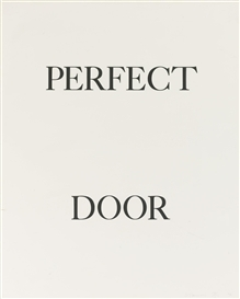 Bruce Nauman, 3 WORKS: PERFECT DOOR, PERFECT ODOR AND PERFECT RODO (CASTELLI, LORENCE,...