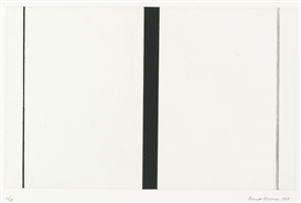 Artwork by Barnett Newman, UNTITLED ETCHING #1 (SPARKS 408), Made of Etching and aquatint