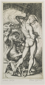 Artwork by Paul Cadmus, HORSE-PLAY (J. 82), Made of Etching