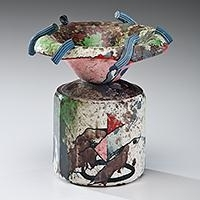 Artwork by Robert Hudson, Untitled No. 9, Made of Earthenware