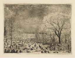 James Ensor, LES PATINEURS