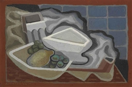 Artwork by Juan Gris, Citron et raisin, Made of oil on canvas