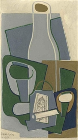 Artwork by Juan Gris, Pipe et paquet de tabac, Made of oil on canvas