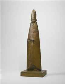 Artwork by Giacomo Manzù, STANDING CARDINAL, Made of Bronze
