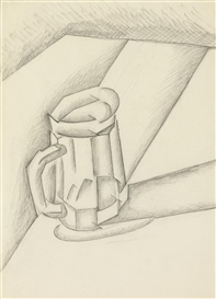 Artwork by Juan Gris, BOCK DE BIERE, Made of Charcoal on paper