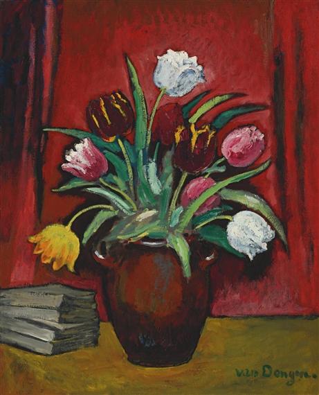Van Dongen Kees Le Vase De Tulipes Circa 1920 Mutualart