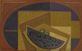 Artwork by Juan Gris, LE RAISIN NOIR, Made of Oil on canvas