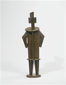 Artwork by Jacques Lipchitz, PERSONNAGE DEMONTABLE: PIERROT, Made of Bronze
