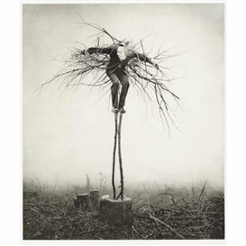 Artwork by Robert & Shana ParkeHarrison, Guardian, Made of Photogravure, hand-coated with beeswax