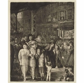 Artwork by George Bellows, The Street (Mason 47), Made of Lithograph