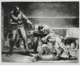 Artwork by George Bellows, The White Hope, Made of Lithograph, Chine volant