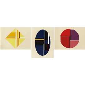 Artwork by Ilya Bolotowsky, 3 works: Triptych, Made of Color screenprints