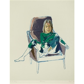 Artwork by Alice Neel, Olivia, Made of Color lithograph