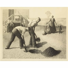 Grant Wood, Tree Planting Group