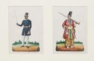 Artwork by John Steuart Curry, 2 works:Costumes of the World, Made of watercolor