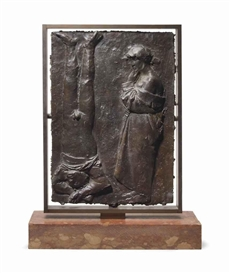 Artwork by Giacomo Manzù, The Partisan, Made of bronze with brown patina