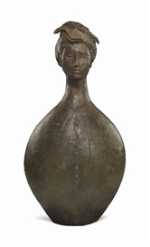 Artwork by Giacomo Manzù, Busto Giapponese, Made of bronze with brown patina