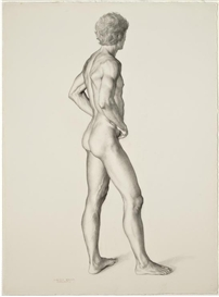 Artwork by Claudio Bravo, Desnudo, Made of graphite on paper