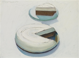 Artwork by Wayne Thiebaud, CHOCOLATE MERANGUE, Made of oil on canvas