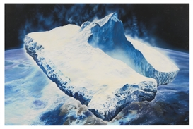 "Artwork by Glenn Brown, TOWARDS AN INTERNATIONAL SOCIALISM (AFTER ""ICEBERGS IN SPACE"" 1989 BY CHRIS..., Made of oil on canvas"