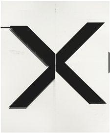Artwork by Wade Guyton, UNTITLED, Made of Epson UltraChrome inkjet on linen