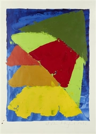 Artwork by John Hoyland, Untitled, Made of oil on paper