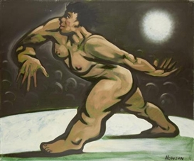Peter Howson, Woman walking