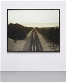Artwork by Richard Misrach, Train Tracks, Colorado Desert, California, Made of Archival pigment print