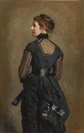 Sir John Everett Millais, PORTRAIT OF KATE PERUGINI, DAUGHTER OF CHARLES DICKENS