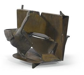 Artwork by Anthony Caro, A LA CARTE (TABLE BRONZE), Made of cast and welded bronze, and brass