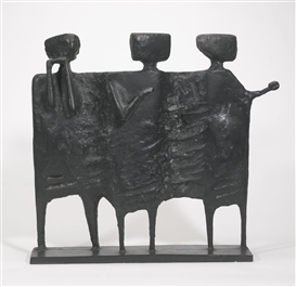 Artwork by Kenneth Armitage, THE VISITORS, Made of bronze