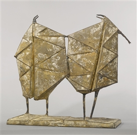 Artwork by Lynn Chadwick, DANCE XI, Made of iron and stolit