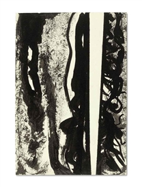 Artwork by Barnett Newman, Untitled, Made of ink on paper