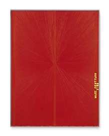 Artwork by Mark Grotjahn, Untitled (Red Butterfly II Yellow MARK GROTJAHN P-08 752), Made of oil on canvas