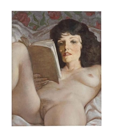 Artwork by John Currin, Gezellig, Made of oil on canvas