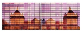 Artwork by Ola Kolehmainen, Palais de Beaux-Arts Number 2, Made of Diptych. Chromogenic print laminated on plexi